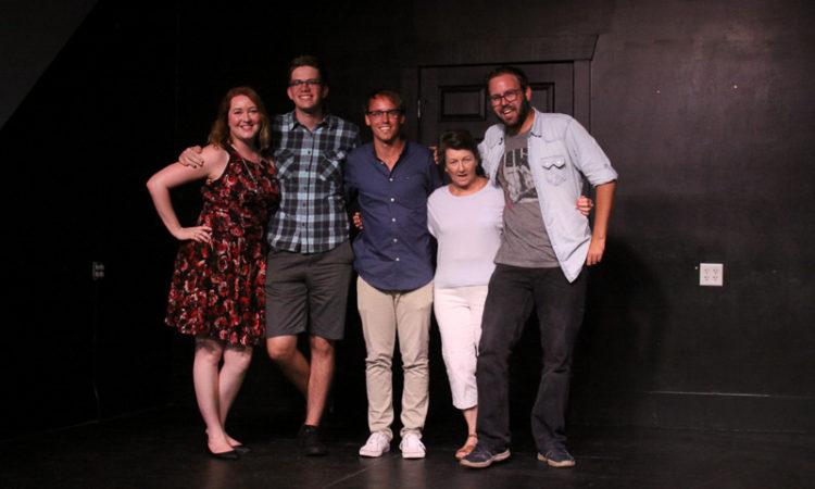 Amber Nettles, Tyler Jones, Garrett Barnes, Susan Sussman, and Travis Carl.