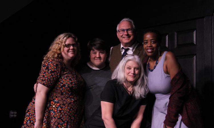 Ramona Rice, Jack DeBeau, Rick Krupnick, Pam Good (center) and Marrissa Patterson