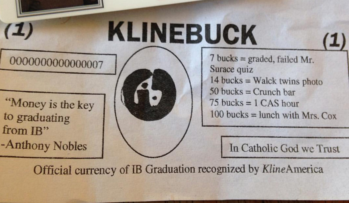 Counterfeit Klinebucks